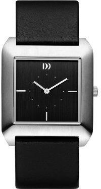 Danish Design (ダニッシュ デザイン) - デンマークデザインiv13q989ステンレススチールCase BlackレザーBand and Dial Women 's Watch