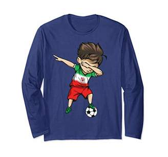 Dabbing Soccer Boy Iran Jersey Shirt - Iranian Football Gift