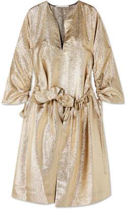 Stella McCartney Gali Gathered Lurex Dress - Gold