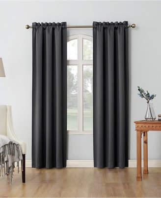 "Sun Zero Shaw 80"" x 84"" Theater Grade Extreme Blackout Rod Pocket Curtain Panel Pair"