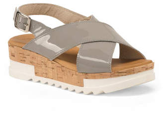Made In Italy Leather Sport Sandals