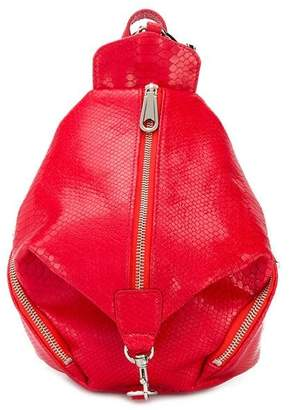 Rebecca Minkoff Julian snakeskin backpack