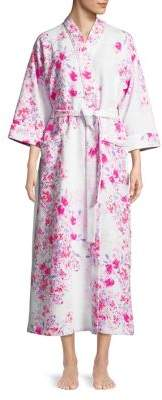 Carole Hochman Quilted Floral Robe