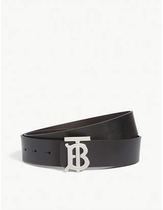 Burberry Monogram buckle leather belt