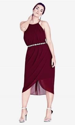 City Chic Citychic Garnet Wrap Love Dress