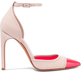 Givenchy - Matte And Patent-leather Pumps - Beige $850 thestylecure.com
