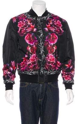 Givenchy Floral Print Reversible Bomber Jacket