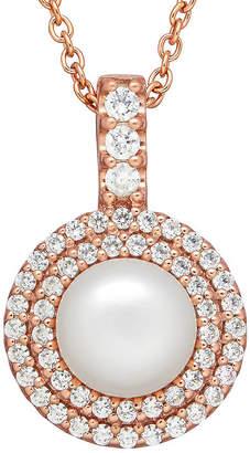 Swarovski SOFIA Certified Sofia Bridal Cultured Freshwater Pearl & Cubic Zirconia Pendant