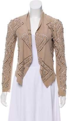 Haute Hippie Embellished Leather Jacket