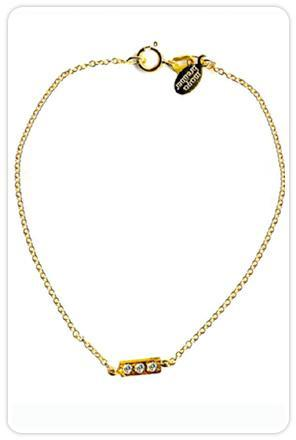 Maya Brenner Chain Bracelet with Diamond Bar