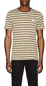 Acne Studios Men's Striped Cotton T-Shirt - Green