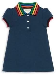 Gucci Baby's Rainbow Collar Short-Sleeve Shirt Dress