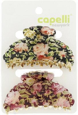 Ulta Capelli New York Floral Print Claw Clip 2 Ct