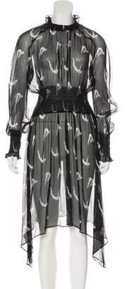 Markus Lupfer Silk Midi Dress