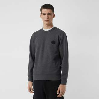 Burberry Embroidered Crest Cotton Sweatshirt