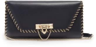 Valentino Demilune leather clutch bag