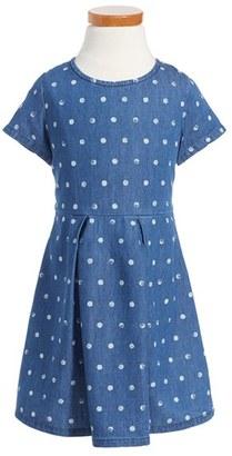 Girl's Splendid Dot Denim Dress $44 thestylecure.com