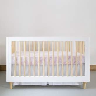 Burt's Bees Solid Woven Organic Cotton Box Pleat Crib Skirt