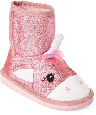 Jesco (Toddler/Kids Girls) Pink Glitter Unicorn Boots