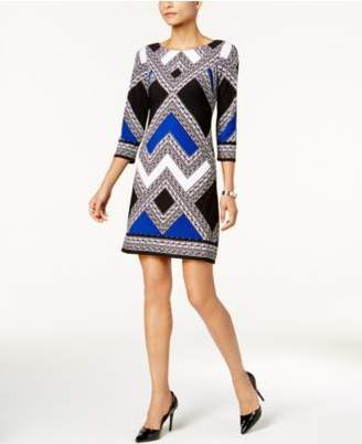 Vince Camuto Geo-Print Shift Dress