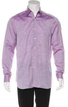Isaia Patterned Woven Shirt