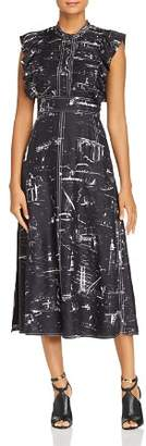 Burberry Parker Silk Midi Dress