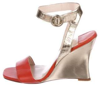 Barneys New York Barney's New York Metallic Leather Sandals