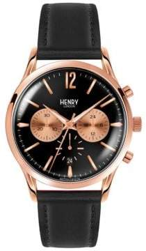 Richmond Henry London Chronograph Leather Strap Watch