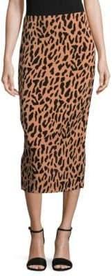 Diane von Furstenberg Floral Midi Pencil Skirt
