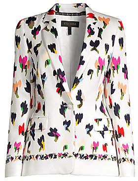 Escada Women's Begastus Abstract Floral Blazer