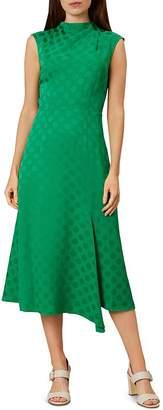 Hobbs London Marina Polka Dot Midi Dress