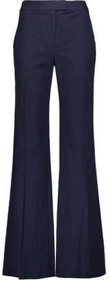 Diane von Furstenberg Nicola Stretch-cotton Tweed Wide-leg Pants