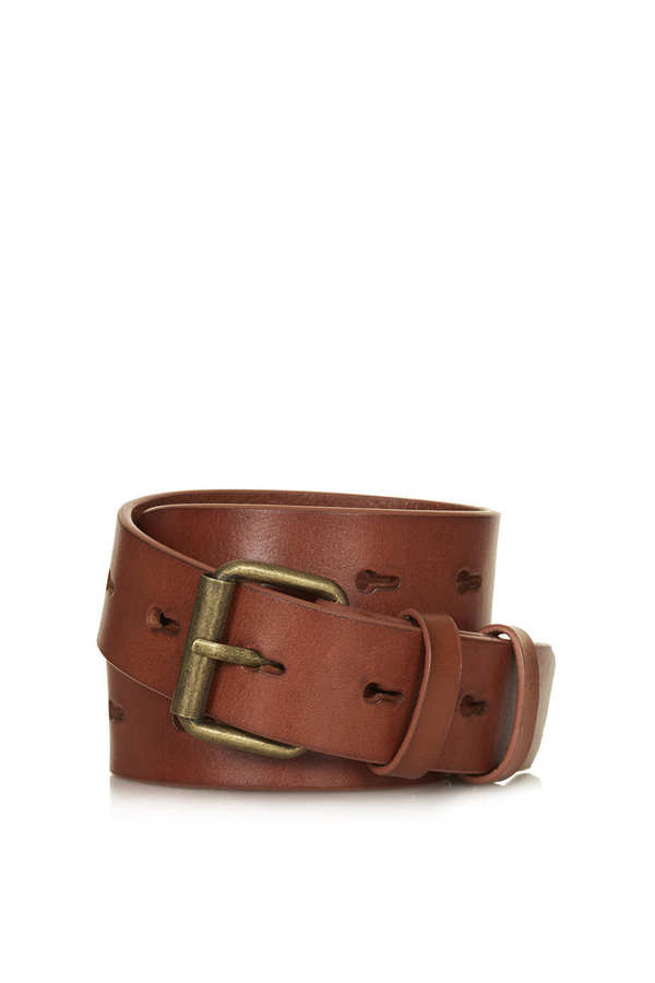 Topshop Leather hole punch belt