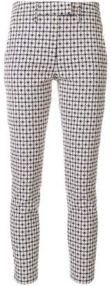 Dondup pattern print slim-fit trousers