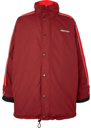 Balenciaga Oversized Shell Jacket - Red