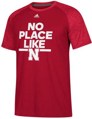 adidas Men's Nebraska Cornhuskers Sideline Say It Loud Raglan T-Shirt