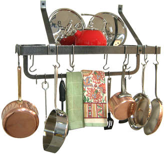 Enclume Hammered Steel Wall Rack with Utility Bar