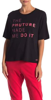 THE PHLUID PROJECT The Phuture Made Me Do It Graphic Crop Tee