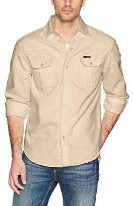 Calvin Klein Jeans Men's Long Sleeve Denim Western Button Down Shirt