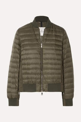 Moncler Quilted Shell Down Jacket - Army green