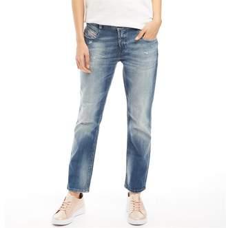 Diesel Womens Bethy Ankle Jeans Blue
