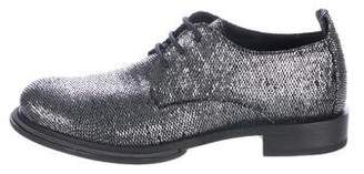 Ann Demeulemeester Embossed Scale Effect Oxfords