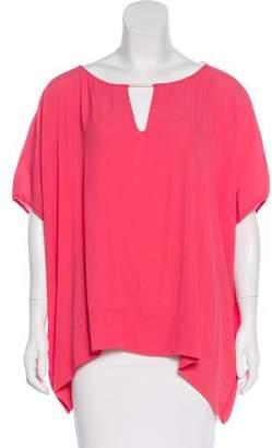 Diane von Furstenberg Short Sleeve Beonica Top