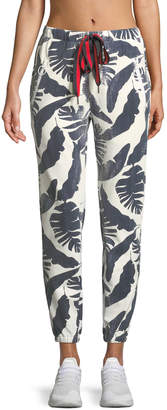 The Upside Lennox Palm-Print Jogger Pants