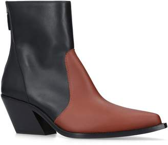 Givenchy Leather Western Ankle Boots 60