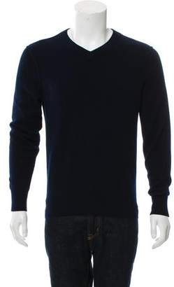 Vince Woven V-Neck Sweater