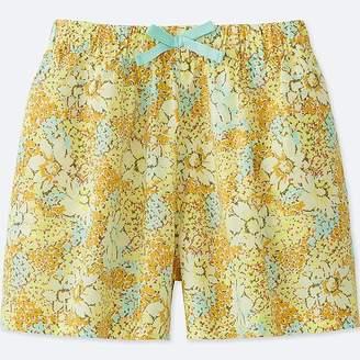 Uniqlo Girl's Printed Easy Flare Shorts