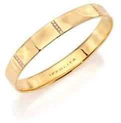 Ippolita Glamazon Stardust Diamond& 18K Yellow Gold Five-Section Wide Bangle Bracelet