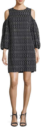 Maggy London Lace Cold-Shoulder Shift Dress