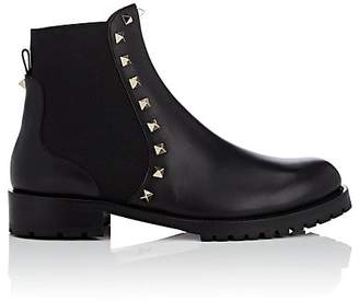 Valentino Women's Rockstud Leather Biker Ankle Boots